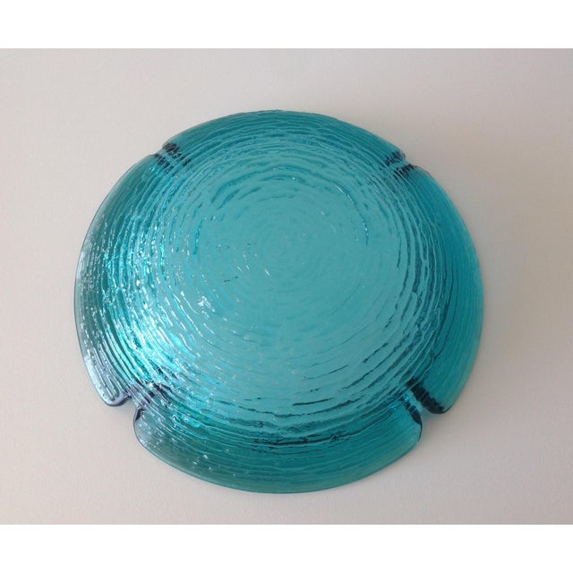 Turquoise Anchor Hocking Vintage Teal Ashtray For Sale - Image 8 of 8