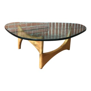 1960s Mid-Century Modern Adrian Pearsall Triangular Coffee Table For Sale