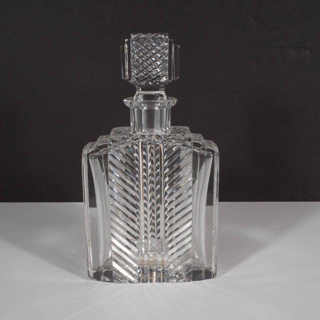 This exquisite Art Deco crystal decanter was realized in Salzburg, Austria by the illustrious maker Rasper & Sohne, circa...