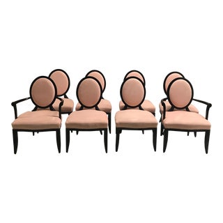 Modern Barbara Barry for Baker Blush Chairs- Set of 8 For Sale