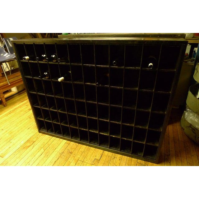 Storage Cabinet of Painted Steel as Wine Rack, Dvd, CD Storage, 72 Cubbies For Sale In Madison - Image 6 of 13