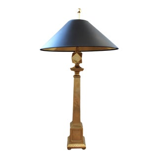 Chapman Neoclassical Brass Table Lamp For Sale