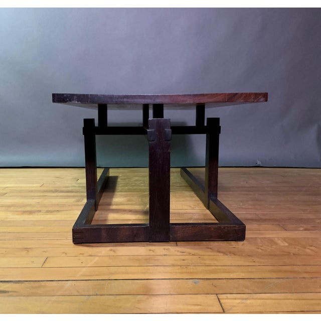 Lacquer Thomas Swift Studio Teak and Lacquered Coffee Table, Usa 1980s For Sale - Image 7 of 10