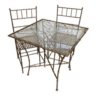 1990s Phyllis Morris Style BambooOutdoor Dining Set For Sale