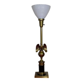 Stiffel Brass Bald Eagle Torchiere Lamp For Sale