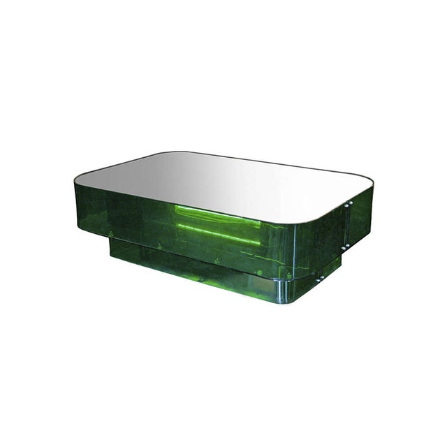 Ron Ferri, Electrified Plexiglass and Mirror Low Table, Usa, 1970s For Sale - Image 10 of 10