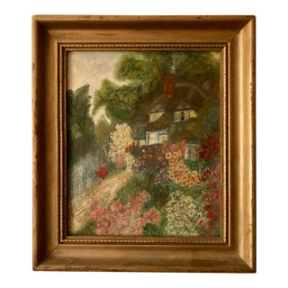 Country Cottage Painting, Framed For Sale