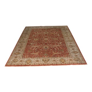 Late 20th Century Vintage Hand-Knotted Oushak Rug - 5′11″ × 9′ For Sale