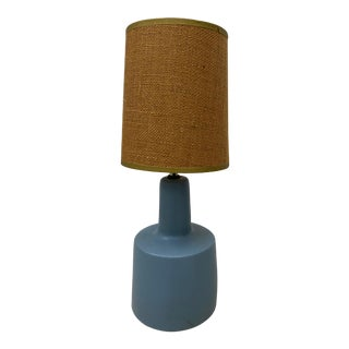 Jane & Gordon Martz Periwinkle Blue Table Lamp C.1960 For Sale