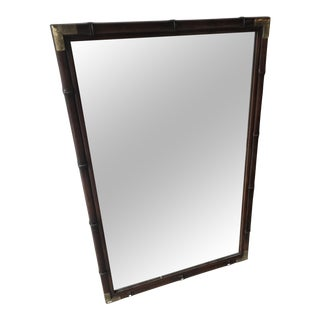 Henredon Mahogany Framed Mirror For Sale