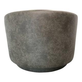 21st Century Gray Vinyl Ottoman For Sale