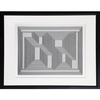 Josef Albers - Portfolio 1, Folder 32, Image 1 Framed Silkscreen For Sale