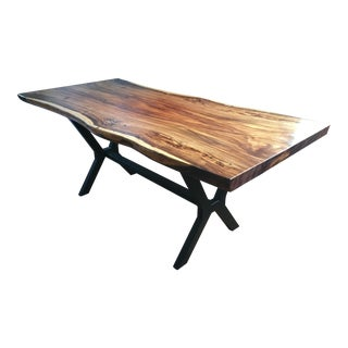 Hd Buttercup Axis Live Edge Walnut Dining Table For Sale