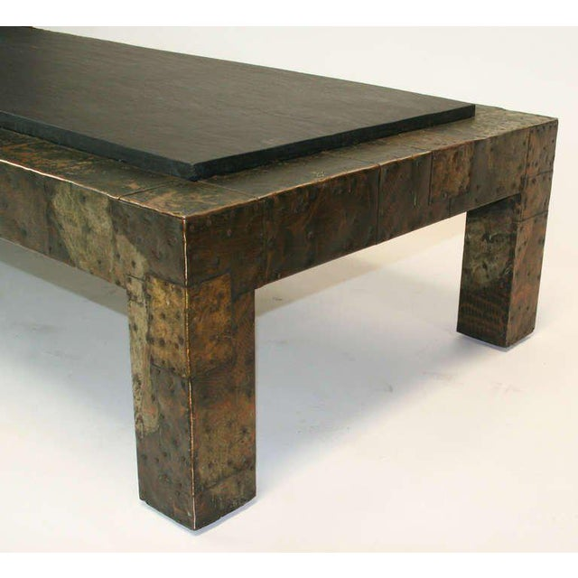 Directional Large Paul Evans Patchwork and Slate Coffee Table For Sale - Image 4 of 5