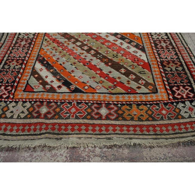 Antique Kurdistan Hand Made Tribal Rug - 4' X 7' For Sale - Image 9 of 10