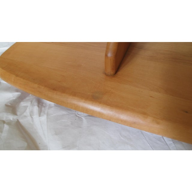 Wood 1940's Heywood Wakefield Tiered Surfboard Table For Sale - Image 7 of 7