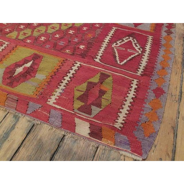 "Purple ""Honeycomb"" Sharkisla Kilim For Sale - Image 8 of 10"