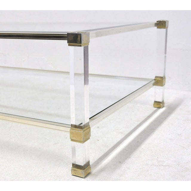Pierre Vandel Lucite And Glass Coffee Table - Image 5 of 6