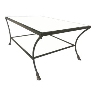 Traditional Chelsea House Mirrored Top Cocktail Table For Sale