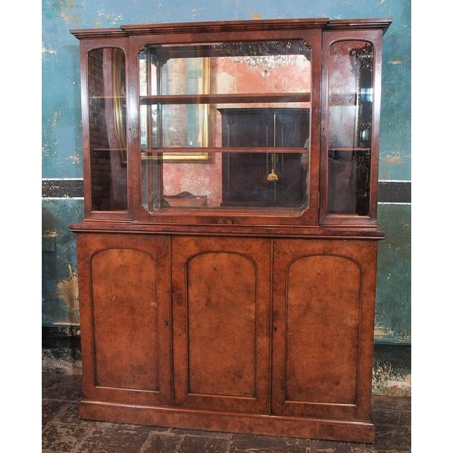 "English Burl Walnut ""Cocktails"" Bar Cabinet-1920's - Image 2 of 9"