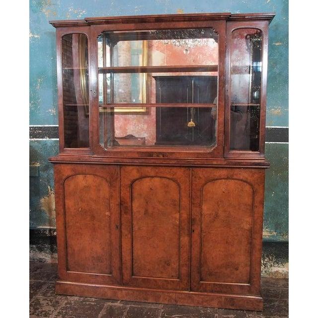 "English burl walnut ""cocktails""Bar Cabinet-1920's"