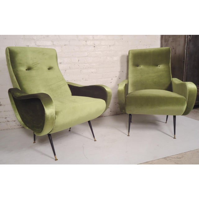 Italian Mid-Century Style Lounge Chairs - a Pair For Sale - Image 5 of 5
