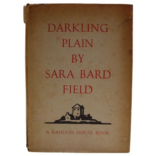 Darkling Plain Book by Sara Bard Field, 1936 For Sale