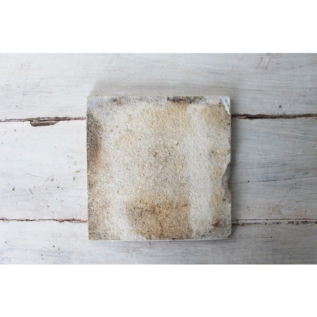 Antique White 19th Century Portuguese Tin-Glazed Pottery Tile For Sale - Image 8 of 10