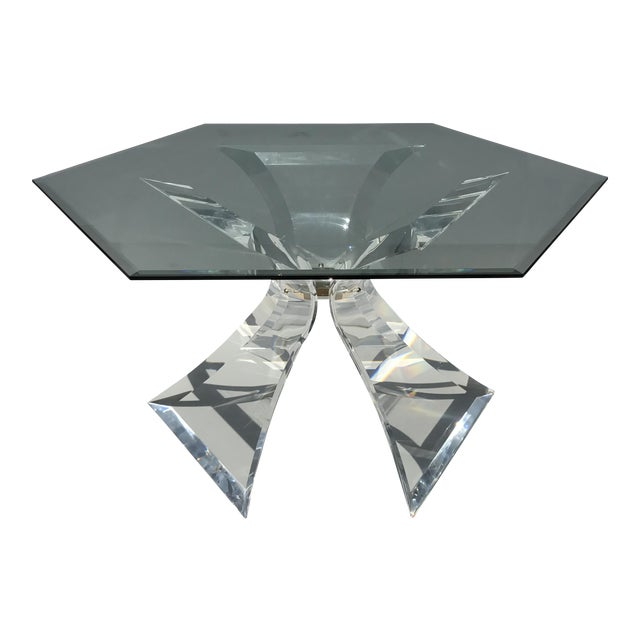 Lion in Frost Lucite Tripod Base Dining Table - Image 1 of 10