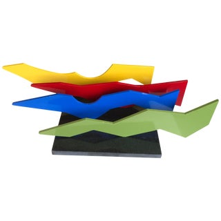 Lia DI Leo Sculptor to the Stars Vibrant Aluminium and Marble Sculpture For Sale