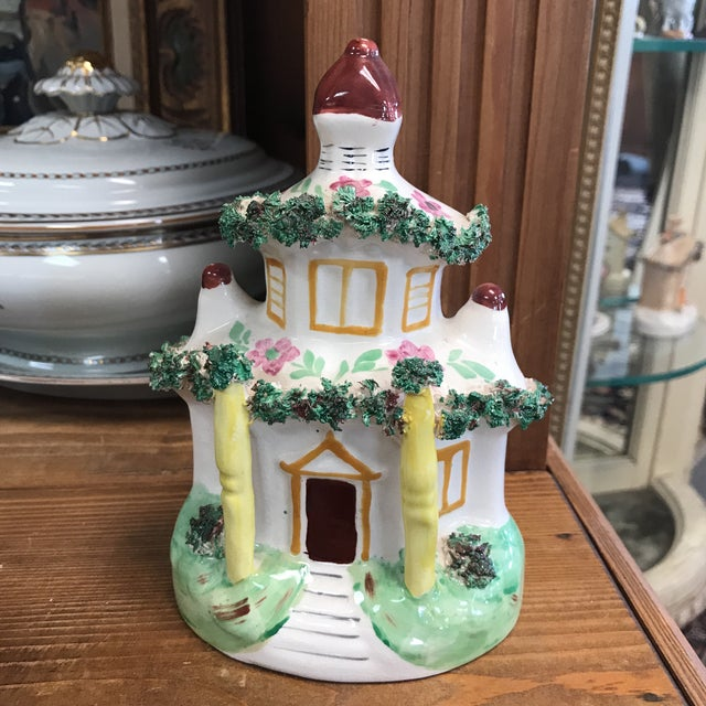 Staffordshire Staffordshire Cottage Figurine For Sale - Image 4 of 4