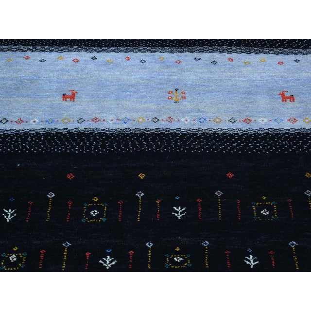 Hand-Knotted Wool Folk Art Gabbeh Rug- 8′3″ × 10′1″ For Sale - Image 9 of 13
