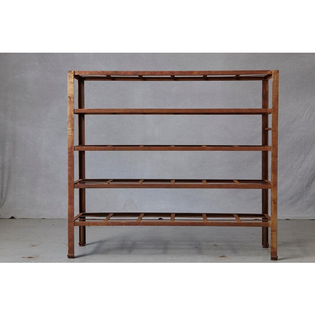 Industrial Industrial 5 Tier Shelf With Grid Shelves for Books or Usage as Seedling Planter For Sale - Image 3 of 11