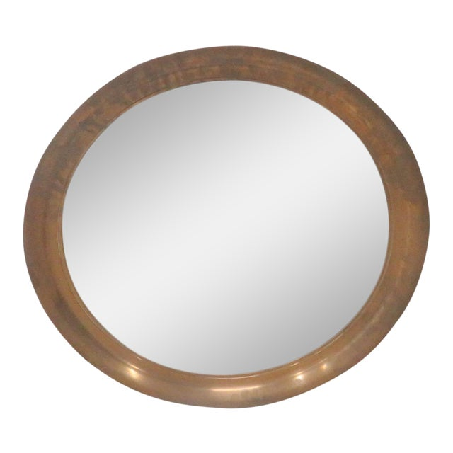 Mid-Century Modern Copper Hanging Mirror - Image 1 of 3