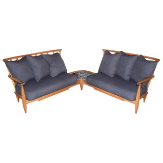 Guillerme Et Chambron Corner Sofa Set, France, 1950s For Sale