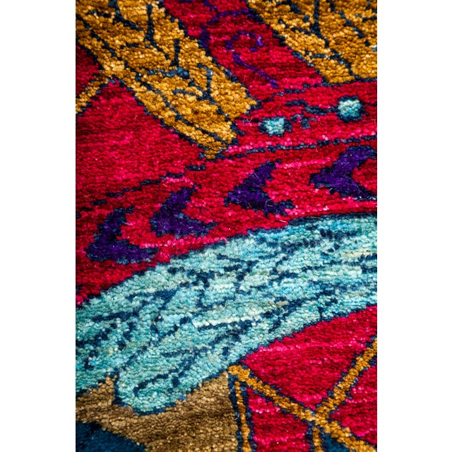 "Contemporary Suzani Hand Knotted Area Rug - 8'3"" X 10'6"" For Sale - Image 3 of 3"