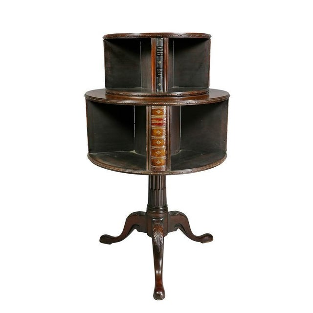 George III Style Mahogany Revolving Bookstand For Sale - Image 9 of 9