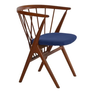 """Helge Sibast """"No. 8"""" Danish Mid Century Modern Spindle Back Arm Chair Circa 1960s For Sale"""