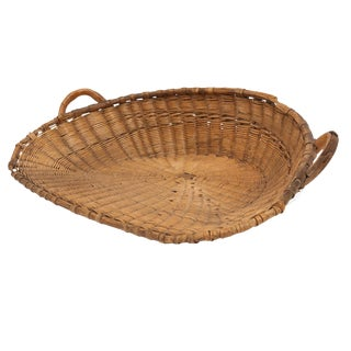 Antique French Winnowing Basket For Sale