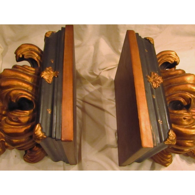 Baroque Style Wall Shelves Brackets - A Pair - Image 4 of 4