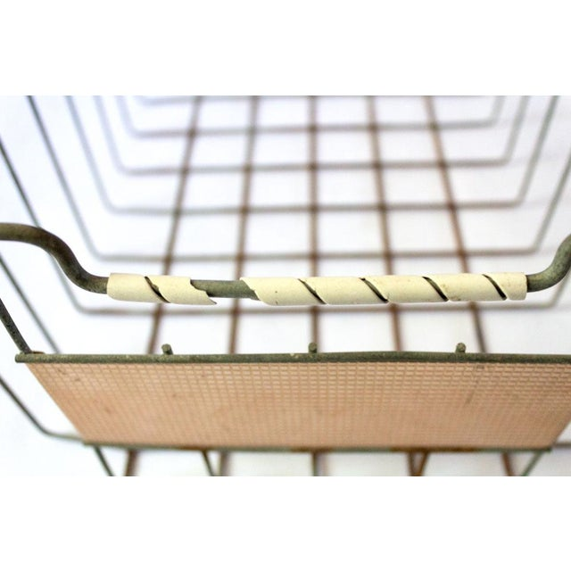 Vintage Mid Century Wire Basket For Sale - Image 10 of 13