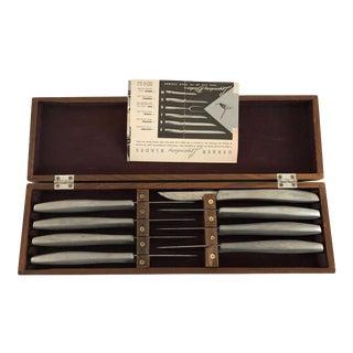 Midcentury Gerber Legendary Blades Miming Steak Knives Set 8 For Sale