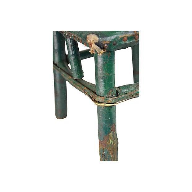 Adirondack Twig & Leather Footstool - Image 5 of 5