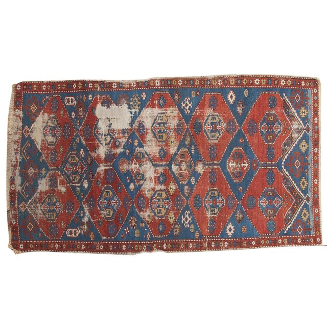 """Antique Shirvan Rug - 4'4"""" x 7'8"""" For Sale - Image 11 of 11"""