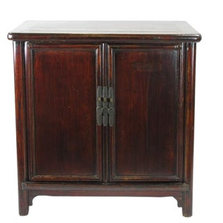 19th Century Ming Brown Countryside Cabinet
