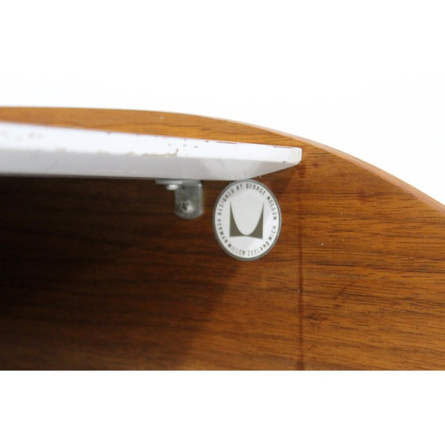 Mid-Century Modern Early Production George Nelson Herman Miller Swag Leg Desk For Sale - Image 12 of 13