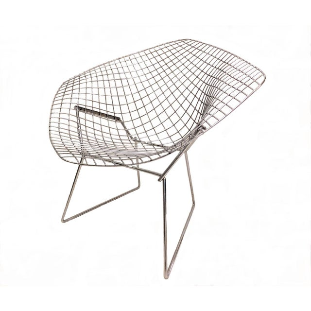 Original Bertoia Diamond Wire Chair in Chrome by Knoll - Image 6 of 9