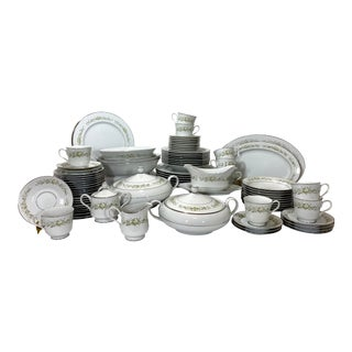 Grace Rhapsody & Sango Dinnerware - Set of 87 For Sale