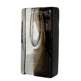 Licio Zanetti Signed Smoked Murano Glass Vase For Sale