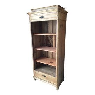20th Century Cottage Pine Shelving Unit For Sale